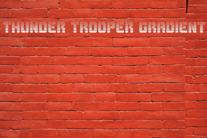 Thunder Trooper Gradient Font examples