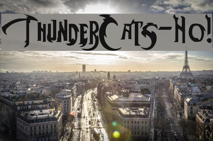 ThunderCats-Ho! フォント examples