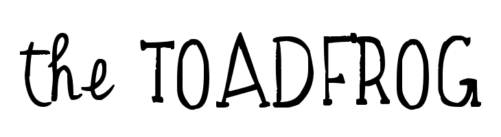 the TOADFROG  Free Fonts Download
