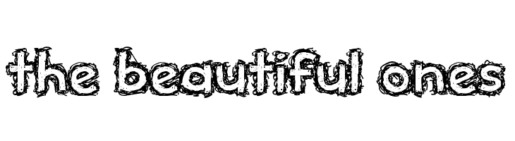 the beautiful ones  Free Fonts Download