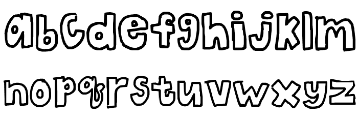 The Bubble Letters Font LOWERCASE