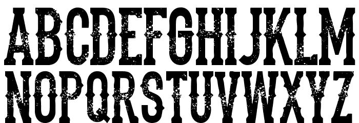 the dead saloon Regular Font UPPERCASE