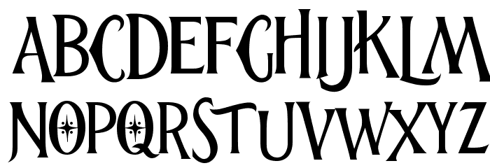 thenutcracker Font UPPERCASE