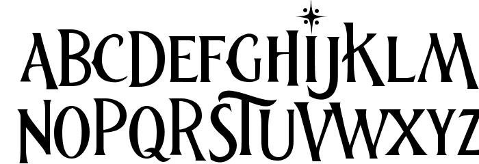 thenutcracker Font LOWERCASE