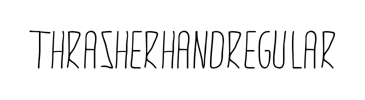 thrasherhandRegular  Free Fonts Download
