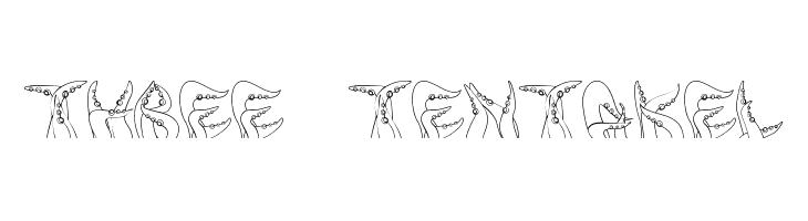 three_tentakel  Free Fonts Download