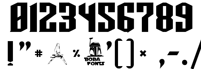 TIE-Wing Font OTHER CHARS