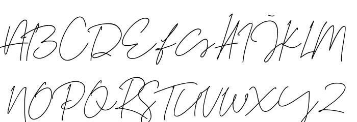 Tiffany Script Caratteri MAIUSCOLE