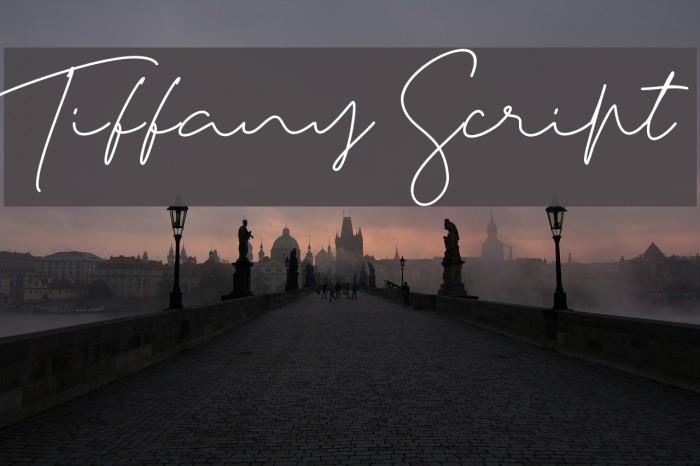Tiffany Script Caratteri examples