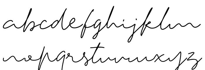 Tiffany Script Caratteri MINUSCOLO