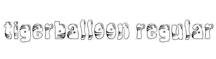 TigerBalloon Regular  Скачать бесплатные шрифты
