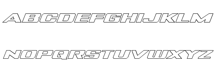 Tigershark Outline Italic Fonte MINÚSCULAS