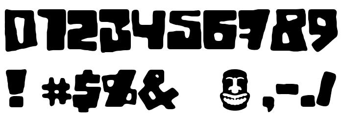 Tiki Tako フォント その他の文字