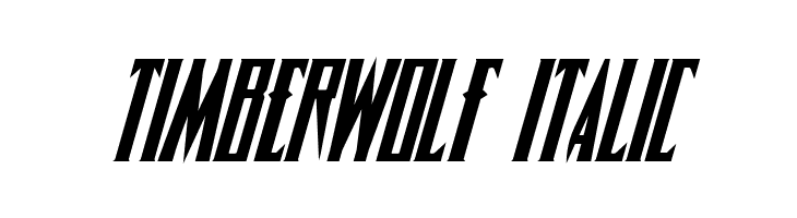 Timberwolf Italic  Free Fonts Download