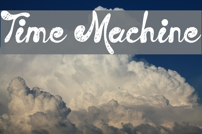 Time Machine Font examples