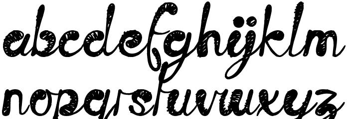 Time Machine Font Litere mici