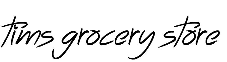Tims Grocery Store  Скачать бесплатные шрифты