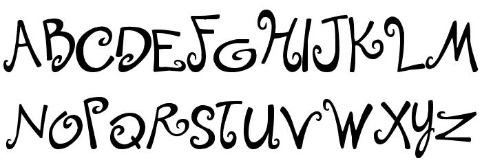 Tingle Institute Font UPPERCASE