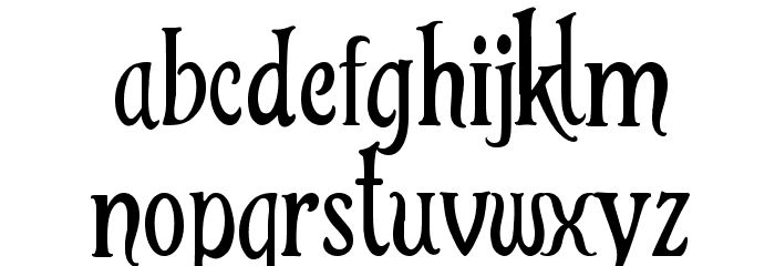 TinkerBell Font LOWERCASE