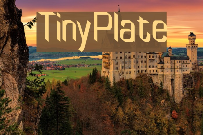 TinyPlate Fonte examples