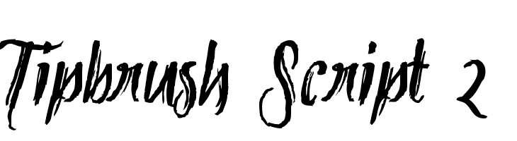 Tipbrush Script 2  Скачать бесплатные шрифты