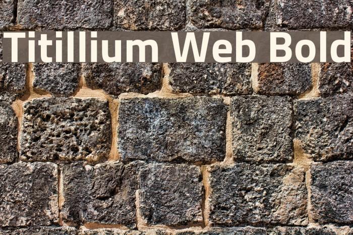 Titillium Web Bold Font examples