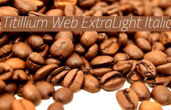 Titillium Web ExtraLight Italic Font examples