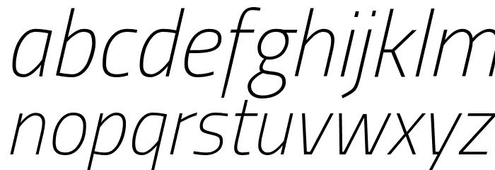 Titillium Web ExtraLight Italic Font LOWERCASE