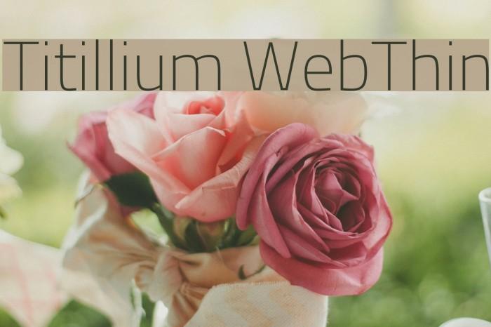 Titillium WebThin Font examples