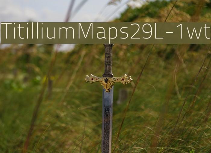 TitilliumMaps29L-1wt Font examples