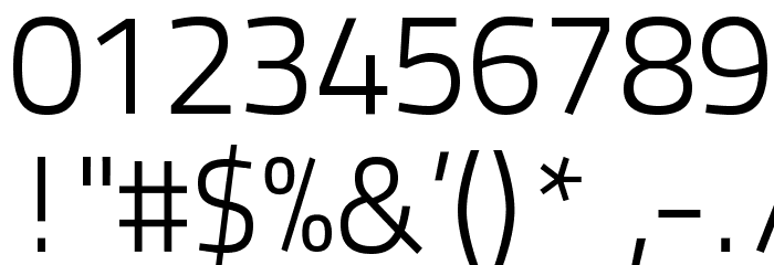 TitilliumText22L-250wt フォント その他の文字
