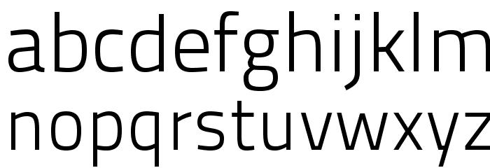 TitilliumText22L-250wt Font LOWERCASE