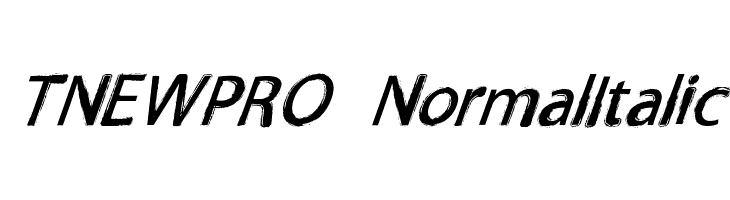 TNEWPRO NormalItalic  Free Fonts Download