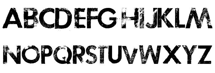 TOSCA ZERO Font UPPERCASE