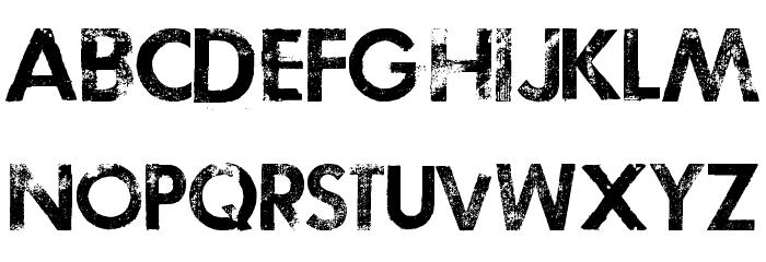 TOSCA ZERO Font LOWERCASE