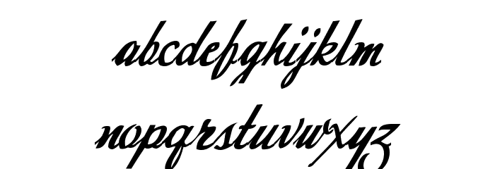 Today Font LOWERCASE
