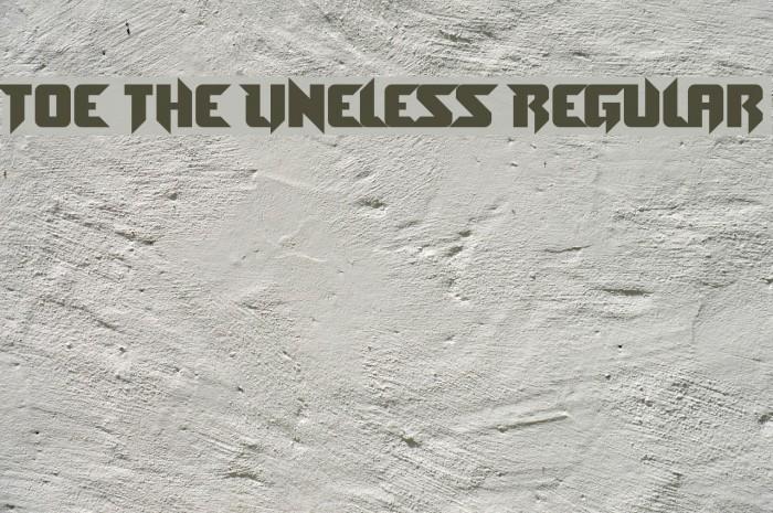 Toe the Lineless Regular फ़ॉन्ट examples