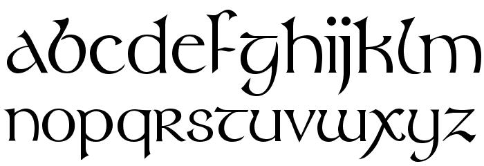 Tolkien Regular Font LOWERCASE