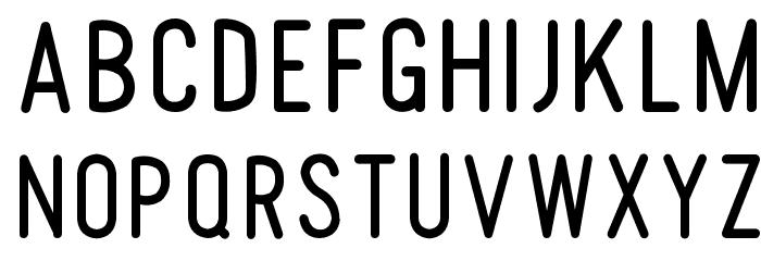 Tomato Round Condensed Font UPPERCASE