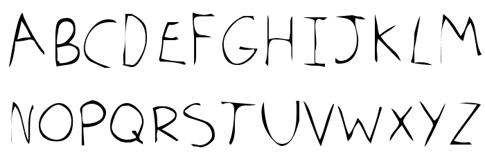 Tom's Handwriting Fonte MAIÚSCULAS