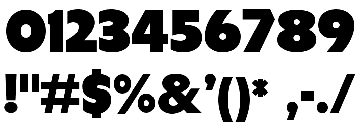 Tondu-Beta Font OTHER CHARS
