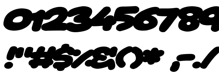 Toon Balloon Italic 字体 其它煤焦