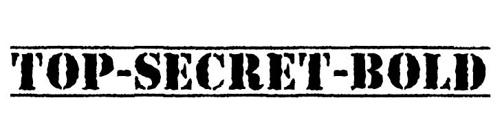 Top-Secret-Bold Font - free fonts download