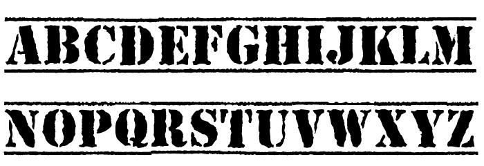 Top-Secret-Bold Font UPPERCASE