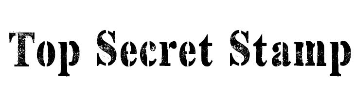 Top Secret Stamp  Скачать бесплатные шрифты