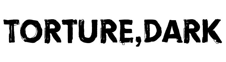 Torture, Dark Font - free fonts download