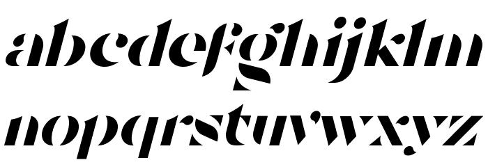 Tostada Italic Caratteri MINUSCOLO