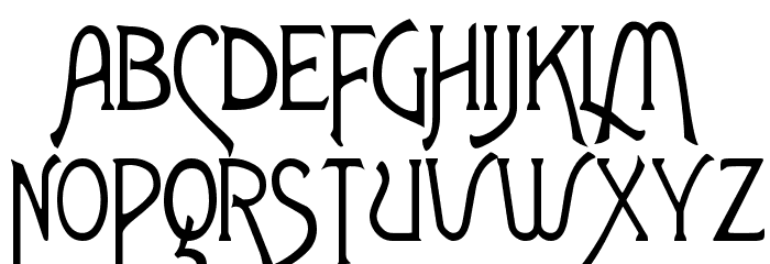 ToulouseLautrec Regular Font UPPERCASE