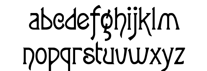 ToulouseLautrec Regular Font LOWERCASE