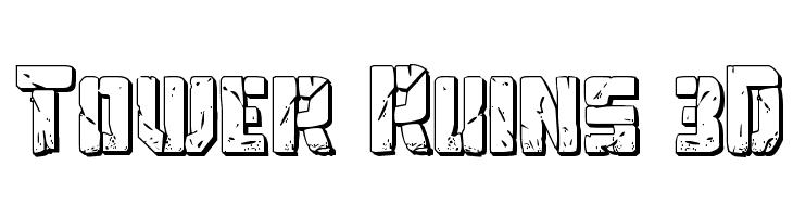 Tower Ruins 3D  Скачать бесплатные шрифты